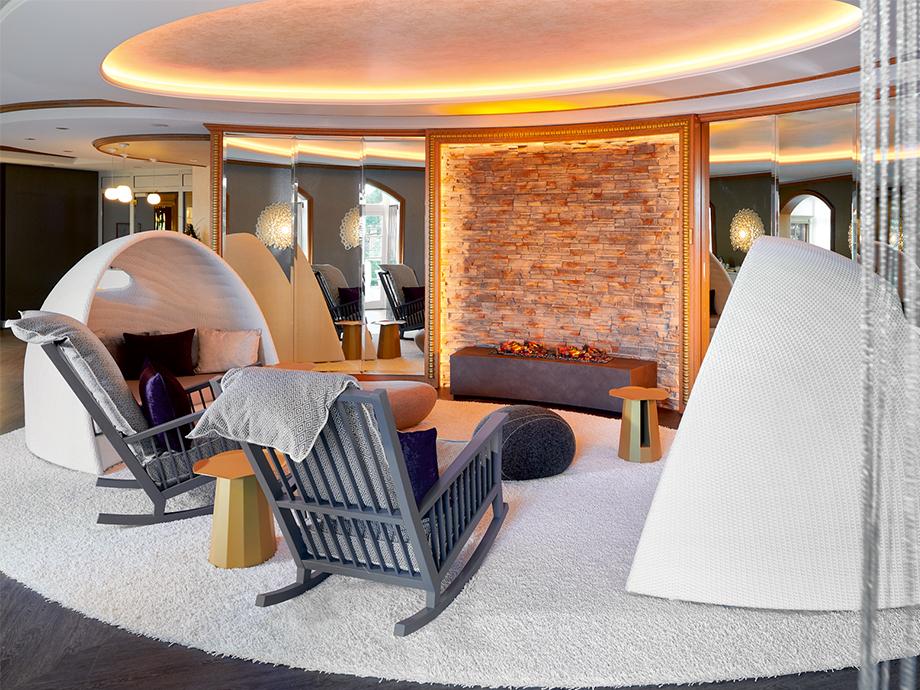 Ruheraum im Spa-Bereich des Travel Charme Kurhaus Binz